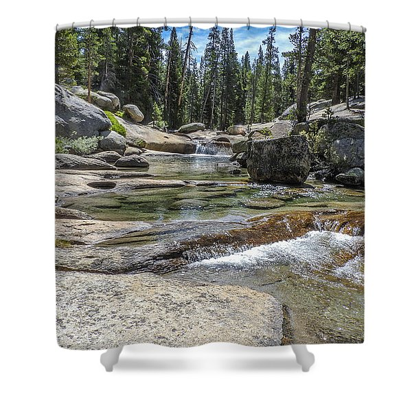 Lyell Fork Tuolomne River Yosemite National Park Shower Curtain