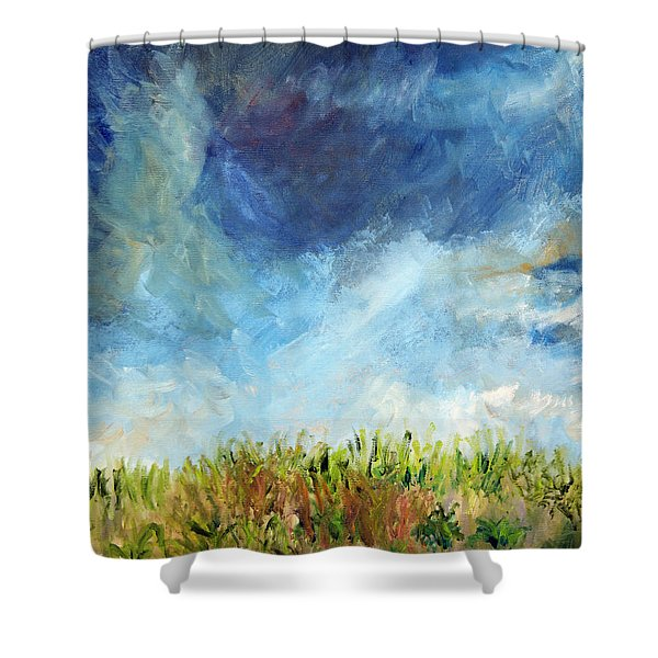 Lying In The Grass Shower Curtain