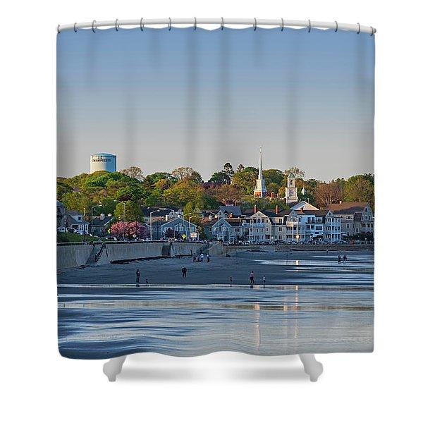 Lynn Waterfront Swampscott Water Tower Lynn Ma Shower Curtain