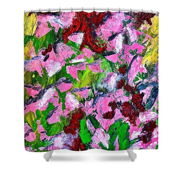 Lyrical Abstraction 201 Shower Curtain