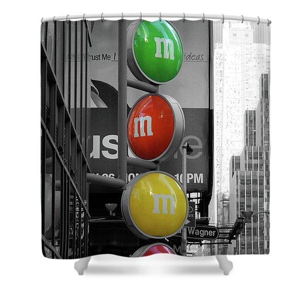 M And Ms In New York City Shower Curtain