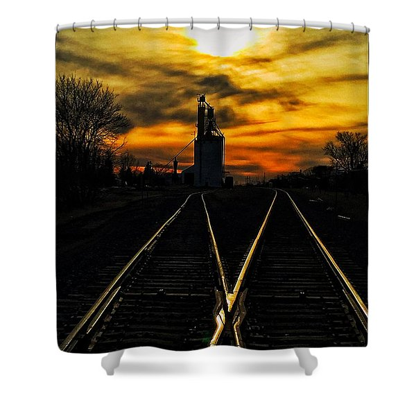 M Track Shower Curtain