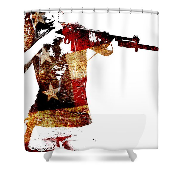 M1 Carbine And Bayonet Shower Curtain