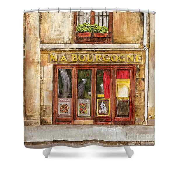 Ma Bourgogne Shower Curtain
