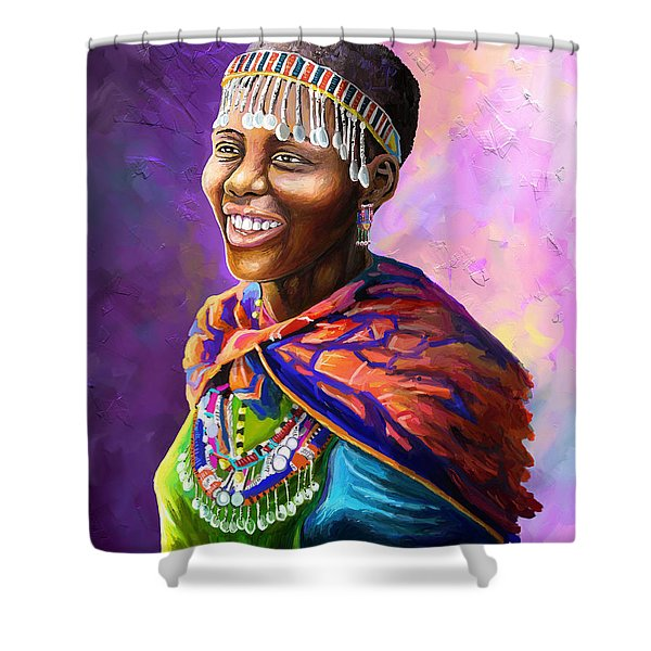 Maasai Girl Shower Curtain
