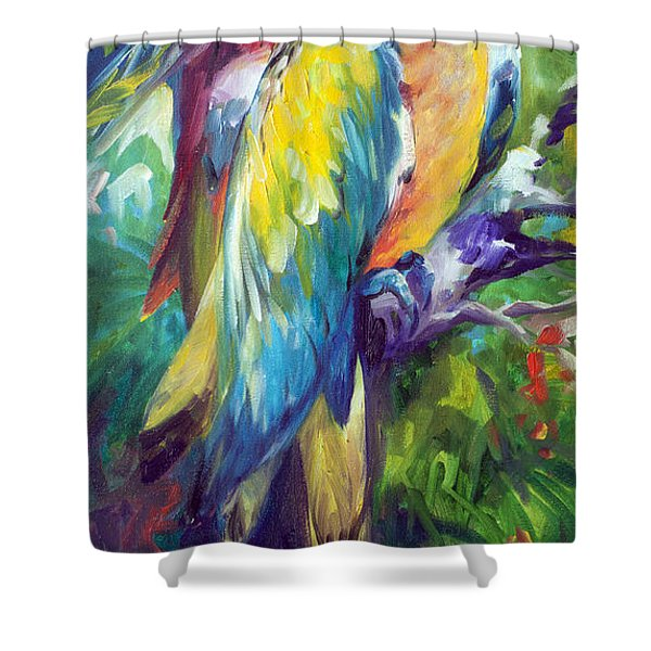 Macaw Pair Shower Curtain