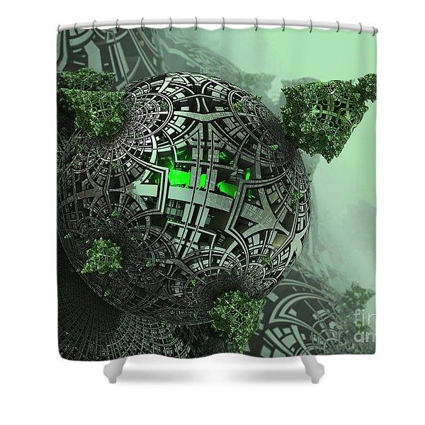 Machine Life Shower Curtain