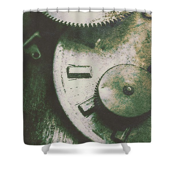 Machinery From The Industrial Age Shower Curtain