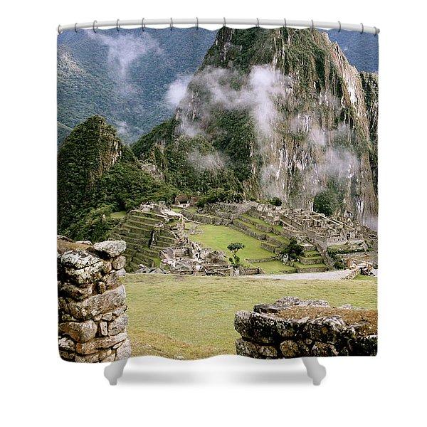 Machu Picchu In The Morning Light Shower Curtain