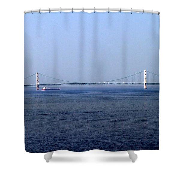 Mackinac Bridge Shower Curtain