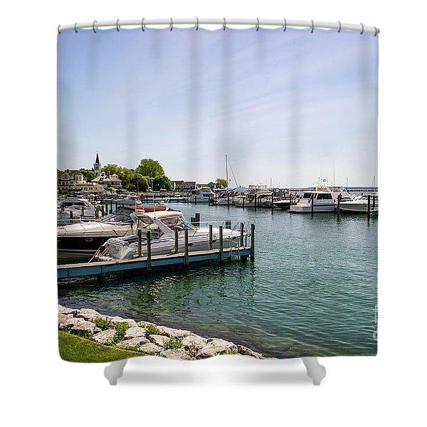 Mackinac Island Marina Shower Curtain