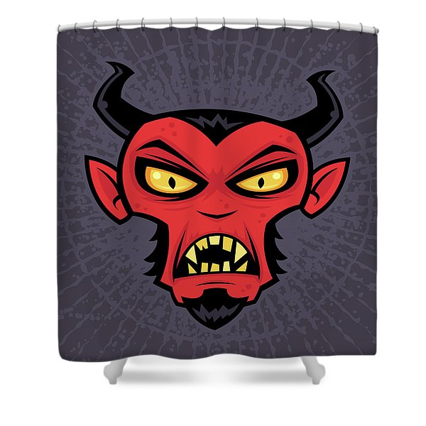 Mad Devil Shower Curtain