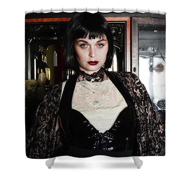 Madam Time...traveler Shower Curtain