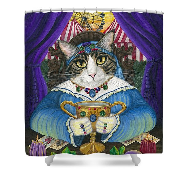 Madame Zoe Teller Of Fortunes - Queen Of Cups Shower Curtain