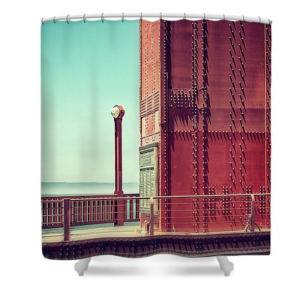 Made Of Steel Shower Curtain
