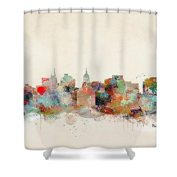 Madison City Skyline Shower Curtain