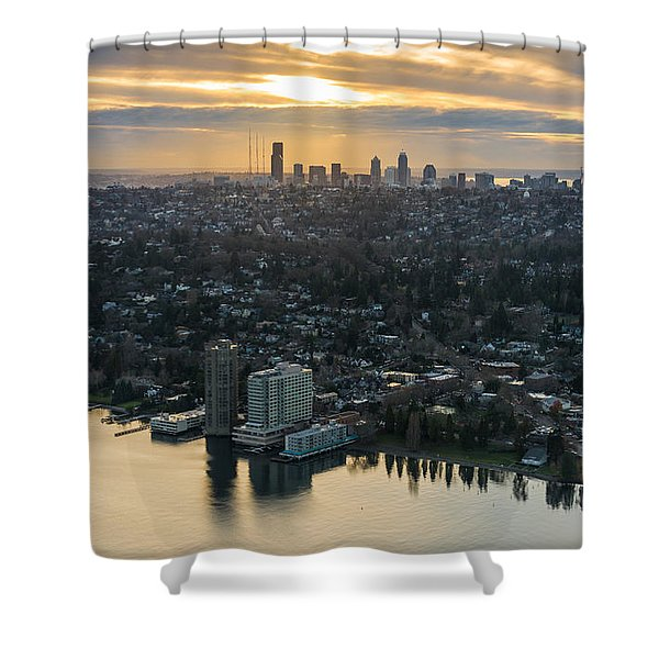 Madison Park And The Seattle Skyline Shower Curtain