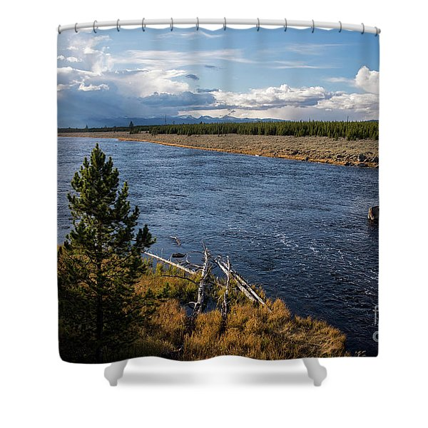 Madison River In Yellowstone National Park Shower Curtain