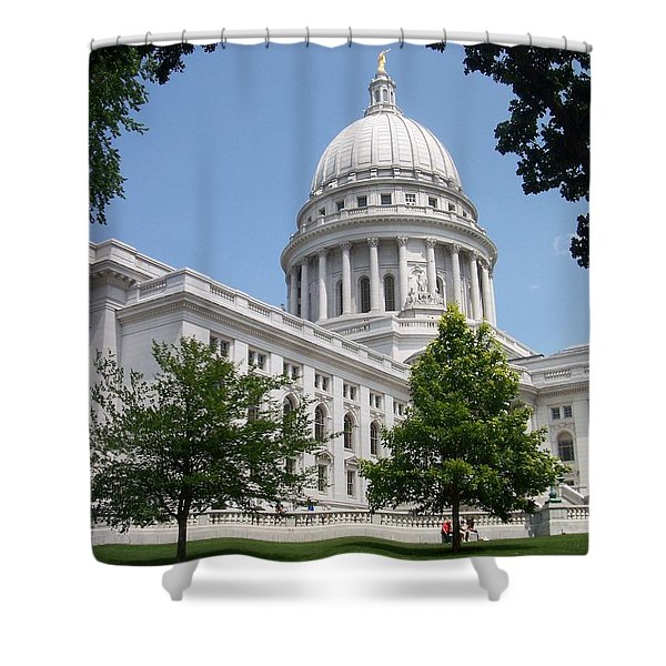 Madison Wi State Capitol Shower Curtain