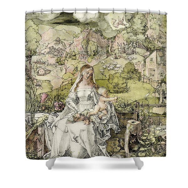 Madonna With The Animals Shower Curtain