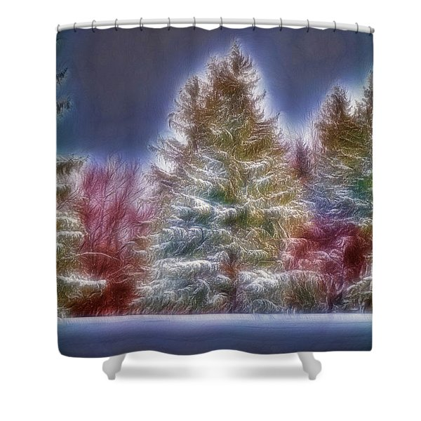Merrry Christmas And Happy New Year Shower Curtain