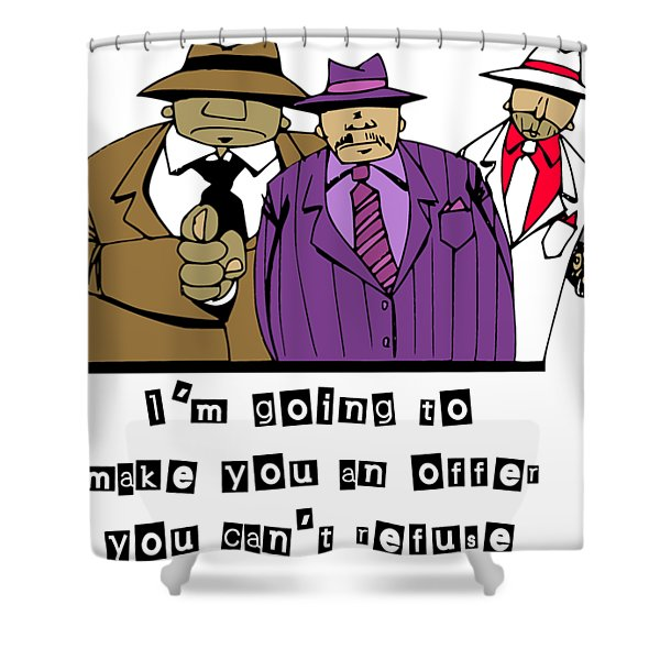 Mafia Shower Curtain