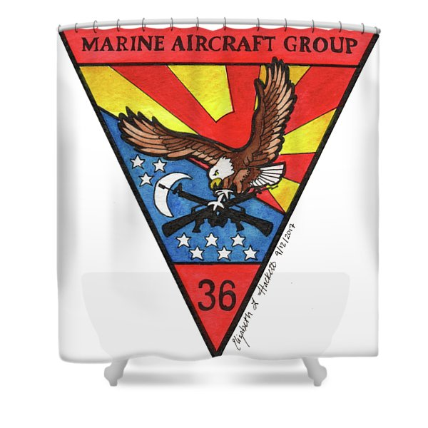 Mag-36 Patch Shower Curtain