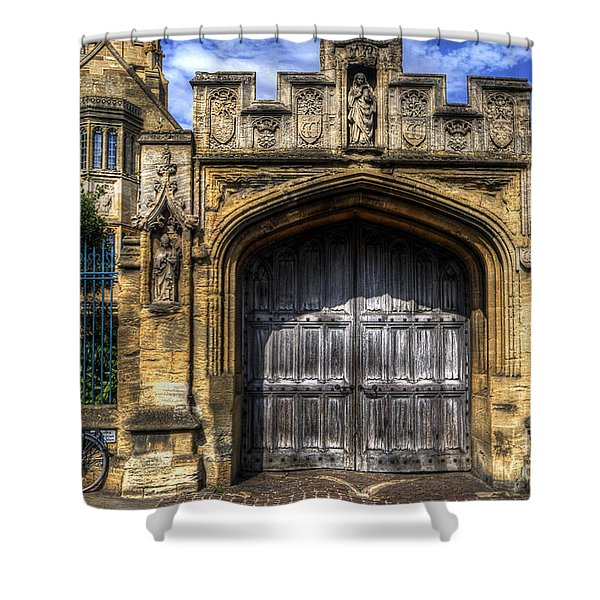 Magdalen College Door - Oxford Shower Curtain