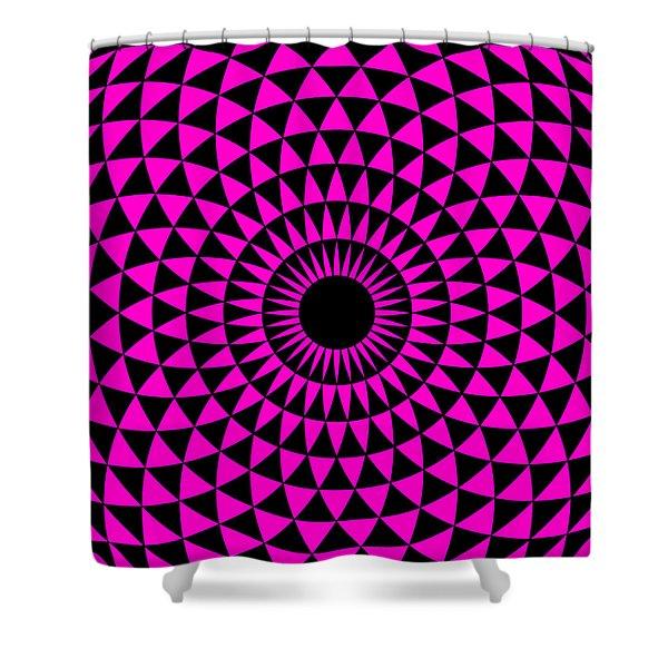 Magenta Balance Shower Curtain