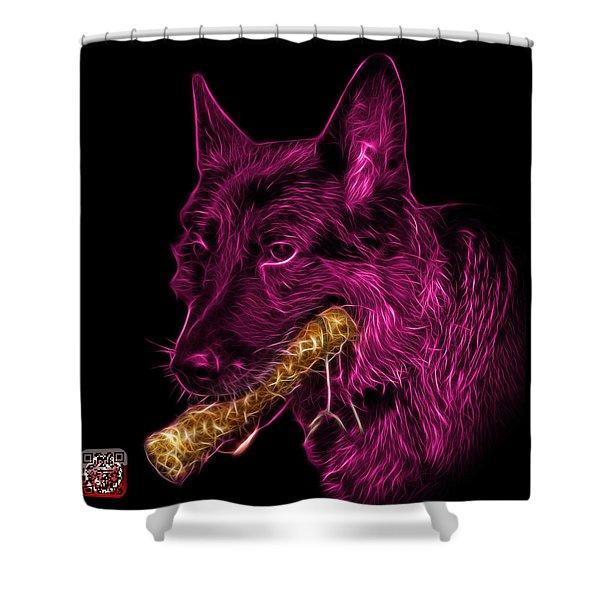Magenta German Shepherd And Toy - 0745 F Shower Curtain