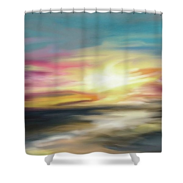 Magenta Sea Shower Curtain