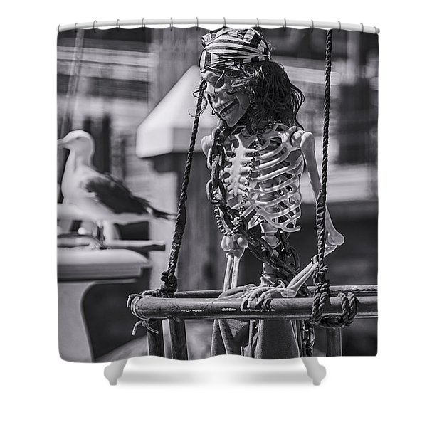 Maggie May And Cedric The Seagull Shower Curtain