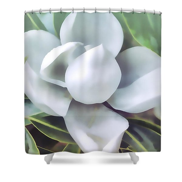 Magnolia Opening 2 Shower Curtain