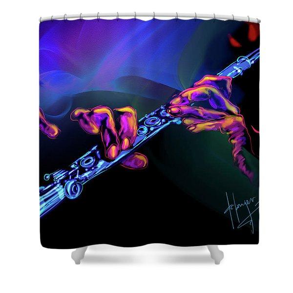 Magic Flute Shower Curtain