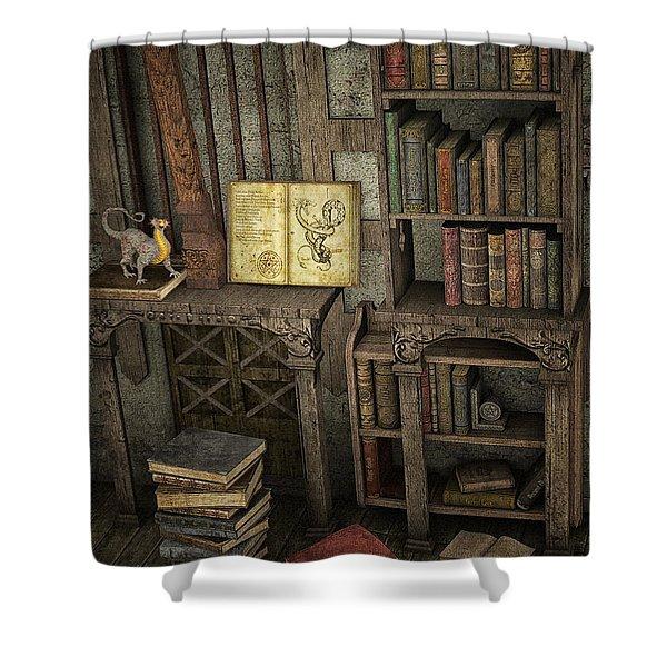 Magic Literature Shower Curtain