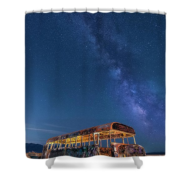 Magic Milky Way Bus Shower Curtain