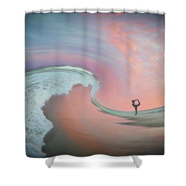Magical Beach Sunset Shower Curtain
