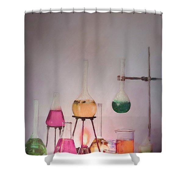 Magical Beakers Shower Curtain