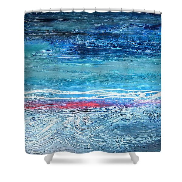 Magnificent Morning Abstract Seascape Shower Curtain