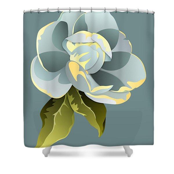 Magnolia Blossom Graphic Shower Curtain
