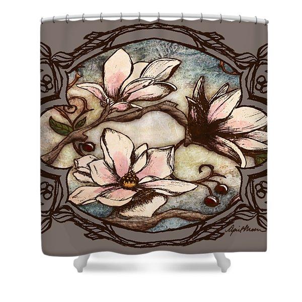 Magnolia Branch II Shower Curtain