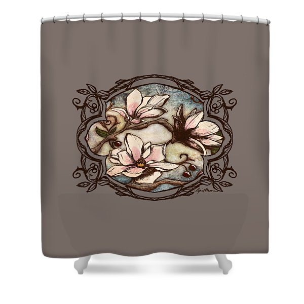 Magnolia Branch II Shower Curtain