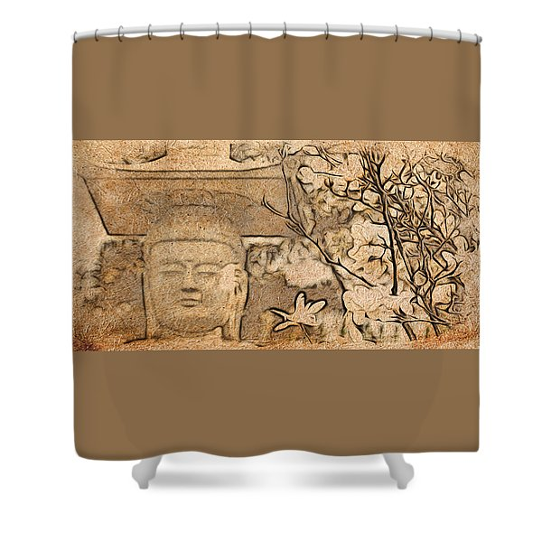 Magnolia Buddha Shower Curtain