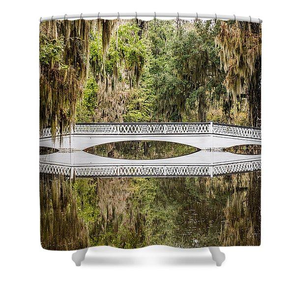 Magnolia Plantation Gardens Bridge Shower Curtain