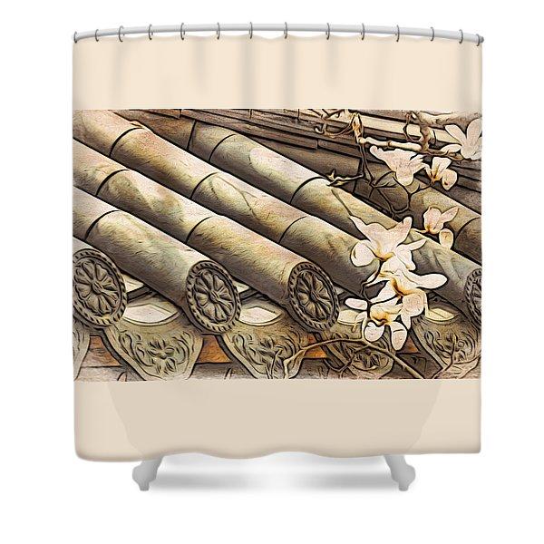 Magnolia Tiles Shower Curtain