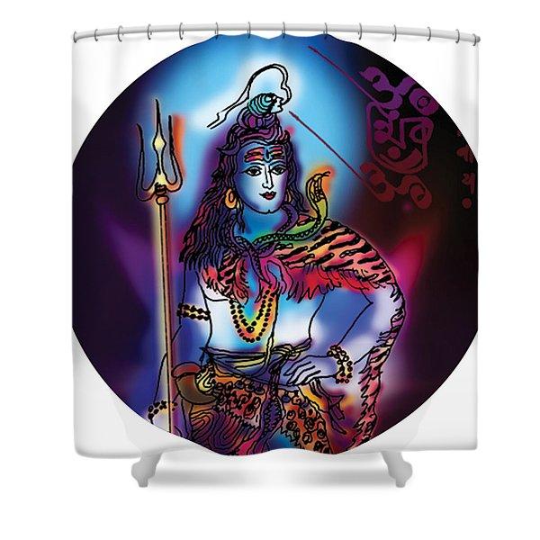 Maheshvara Shiva Shower Curtain