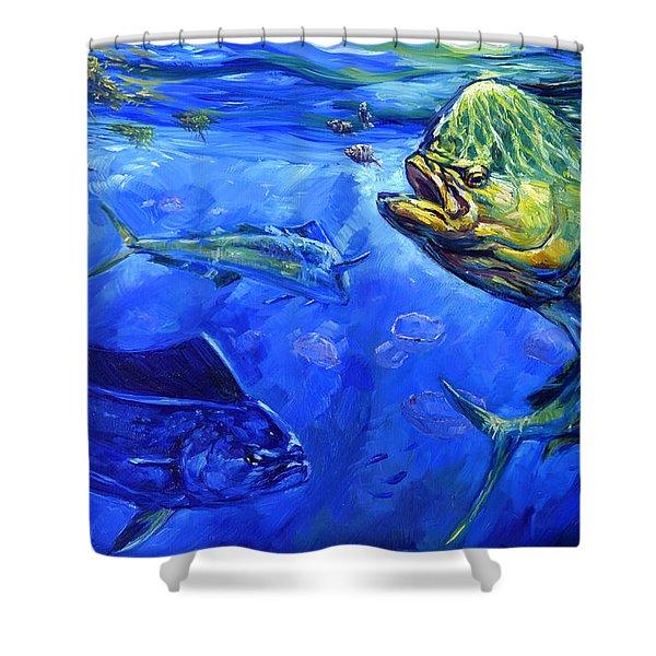 Mahi And Moon Jellyfish Shower Curtain
