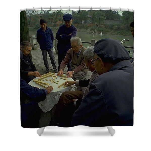 Mahjong In Guangzhou Shower Curtain