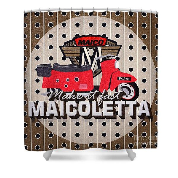 Maicoletta Scooter Advertising Shower Curtain