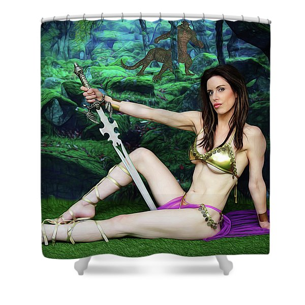 Maiden Of The Mystic Wood Shower Curtain